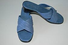 Damiani's Women 8 Wedges Blue With Black Heel Man Made In Italy