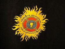 Charoltte NC Mecklenburg Fire Dept Life & Safety Bowl T Shirt 2XL Black