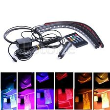 4pcs 8 Color LED Glow Car Interior Light Strip Under Dash Footwell Lighting Kit