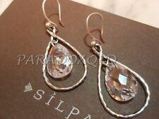 """SILPADA Sterling Silver 925 """"Harbor Lights"""" Cubic Zirconia CZ Earrings W2284"""