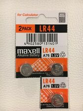 3 NEW LR44 MAXELL A76 L1154 AG13 357 SR44 303 BATTERY FREE SHIPPING