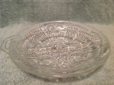 Vintage Small Clear Glass Divided Relish/Snack Dish
