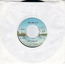 PAUL McCARTNEY  With A Little Luck / Backwards Traveller 45  THE BEATLES