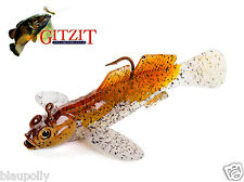 Grundel Koppe Round Goby Made in USA Zander Barsch Softbait incl. Jig
