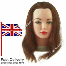 Hairdressing Training Practice Head Superior Quality CATHY 100% HUMAN Hair