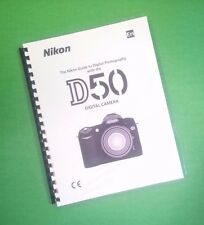 COLOR PRINTED Nikon Camera D50 Manual, User Guide 148 Pages FREE SHIPPING