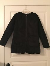Banana Republic Women's Black Faux Suede Coat NWT Sz Small Retails $275