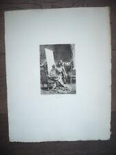 MOLIÈRE GRAVURE ORIG. L. LELOIR 19° SIÈCLE LE SICILIEN OU L'AMOUR PEINTRE SC.12