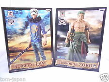 One Piece Master Stars Piece Lot of 2 ZORO, LAW  Figure BANPRESTO from Japan F/S