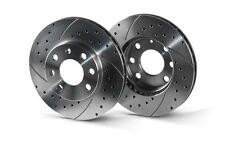 BMW 3 E46 front drilled-grooved brake discs. Rotinger sport brake discs.
