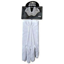 New White Short Gloves Clown Magician Santa Father Christmas Fancy Dress Costume