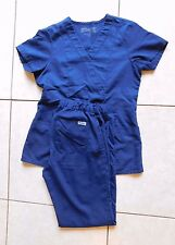 Grey's Anatomy Scrub Set, Navy Blue, Size Small Top, EXTRA Small TALL Pants