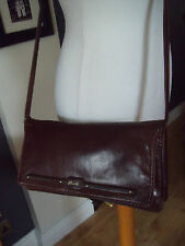 VINTAGE BUTI SUPER OSCAR(ITALY)  CHESTNUT BROWN LEATHER ACROSS BODY /CLUTCH BAG