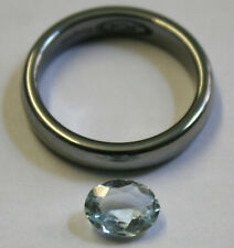 NATURAL LOOSE AQUAMARINE GEMSTONE 6X8MM FACETED OVAL CUT 1.1CT GEM AQ22