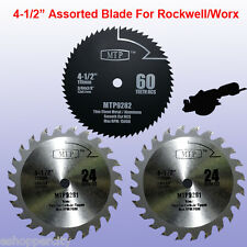 3x 4-1/2 inch Metal Wood  Blade for ROCKWELL RK3441K WORX RW9281 RW9282 Compact