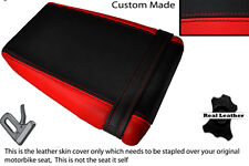 BLACK & RED CUSTOM FITS KAWASAKI ZXR ZX R 400 88-90 REAR LEATHER SEAT COVER