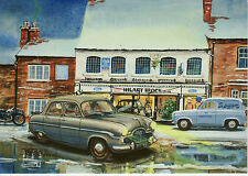 Large Christmas Card Ford Zephyr mark 1 Ford 110E van  Olney Buckinghamshire