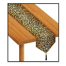 Animal Print Jungle Party Supplies LEOPARD PAPER TABLE RUNNER