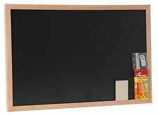 Blackboard School Duster Chalk Hanging Hook 45x30cm Black Board with chalk