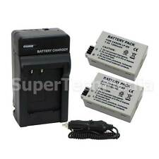 2 Battery + Charger Combo Kit For Canon LP-E8 LPE8 EOS Rebe  T2i T3i T4i T5i