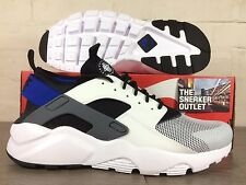 New Mens Nike Air Huarache Run Ultra UK Size 11 Trainers // Blue White Grey