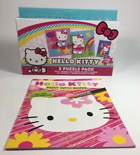 Hello Kitty Paint With Water Activity Book Plus 3 Puzzle Pack Daycare Child Fun