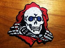 Powell Peralta Bones Ripper Woven Iron On Patch Old School Skull Skateboard