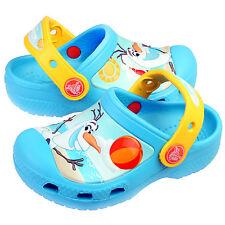 Crocs Cc Frozen Olaf Little Kids 201503-404 Blue Clogs Shoes Youth Size 10/11