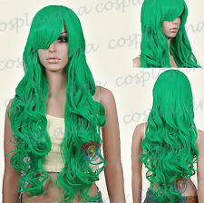 33 inch Hi_Temp Series Light Green Curly wavy Long Cosplay DNA Wigs 967GGE