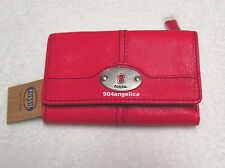 Fossil Marlow Leather Multifunction Wallet Pink NWT