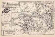 "1930 Reading Company Railroad Map*  Small 10 3/4"" x 7 1/2"" Map!"