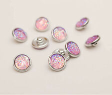 10pcs Tree Pink AB 12mm snaps Chunk Button For Charm Leather Bracelets NEW
