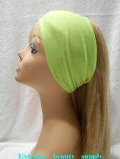 "thin Fashion Turban extra 4 "" Wide Women's Stretchy Elastic Head band warp"