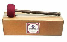 Mudra Crafts Faux Leather Covered Singing Bowl Striker Rin Gong Wooden Mallet...