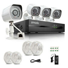 Zmodo® 4CH NVR 720p HD IP Network sPoE IR Home Security Camera System No HDD