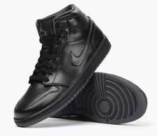NIB NIKE Mens 8 AIR JORDAN 1 MID 554724 021 BLACK BASKETBALL SHOES NEW $110
