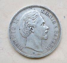 5 Mark Deutsches Reich Ludwig II 1874 - D- mit prächtiger Patina- a. Landshut