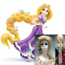 Anime Halloween Cosplay Wig Tangled Rapunzel Costume long blonde Ladies Wigs