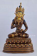 """13.5"""" Vajrasattva Dorje Sempa Oxidized Gold Gilded Fine Quality Copper Statue"""