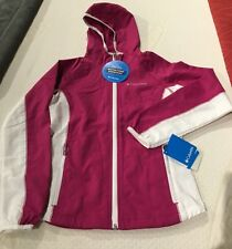 Columbia GIRLS Five Alarm Softshell Hoodie  LIGHT wind/rain  jacket MEDIUM