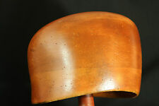 Assymetric Millinery Mold Hat Block Wooden Hardwood  56 cm Head Size