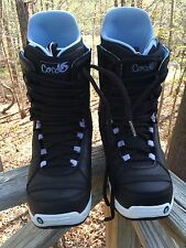 Burton Imprint 1 Coco Trufit Women's Snowboard Boots Size 10 Baby Blue And Black