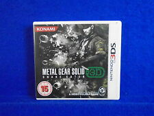 *3DS METAL GEAR SOLID Snake Eater 3D (No Manual) PAL Uk English Version