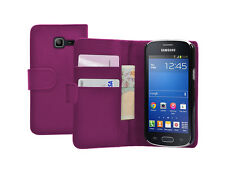 Wallet MAGENTA Leather Flip Case Cover Pouch for Samsung Galaxy Fresh GT-S7390