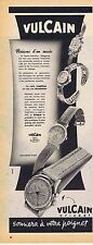 PUBLICITE ADVERTISING 015 1951 VULCAIN montre réveil