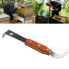 Wooden Handle Bee Hive Hook Scraper Stainless Steel Beekeeping Equipment Tools
