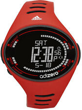 New $95 Adidas ADP3507 Performance AdiZero Red Black Digital Chrono Watch