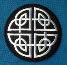 IRISH CELTIC KNOT CROSS TRIBAL TATTOO FLAG BADGE IRON SEW ON PATCH