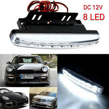 White 8LED Daytime Driving Running Light DRL Car Fog Lamp Waterproof DC 12V