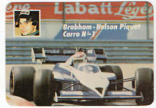 1985 Portugese Pocket Calendar F1 Brabham BMW Team driver Nelson Piquet car #1